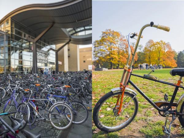 Fahrradfahren in der Stadt. Hier: Hauptbahnhof. Potsdam, 03.11.2015