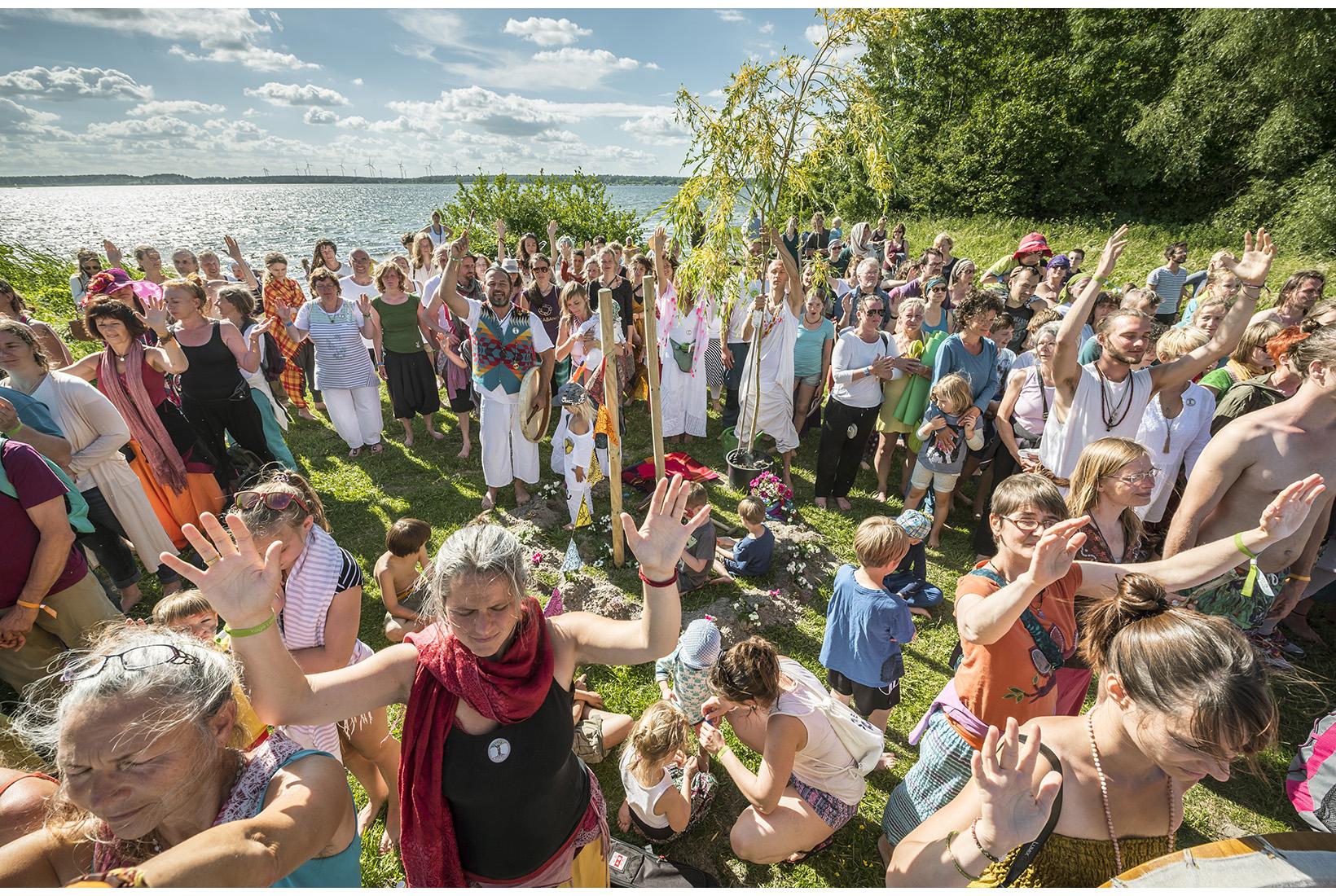 Yoga Love Festival auf der Insel Plauer Werder. Mecklenburg, 17.06.2017
